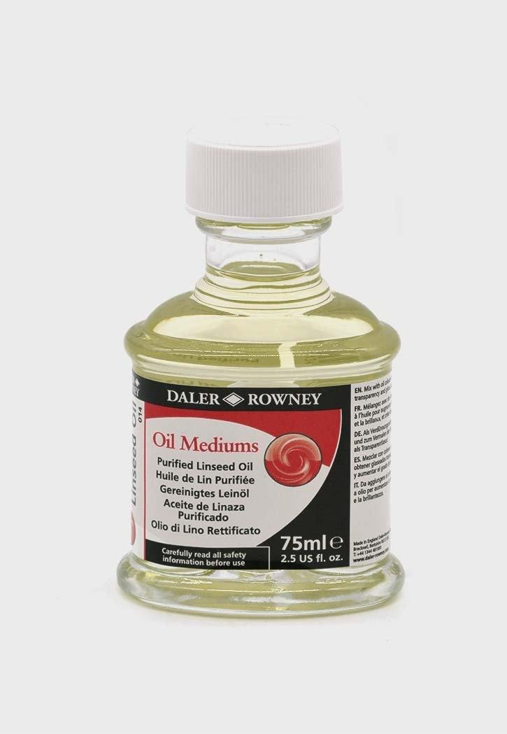 DALER ROWNEY PURIFIED LINSEED OIL 75ML