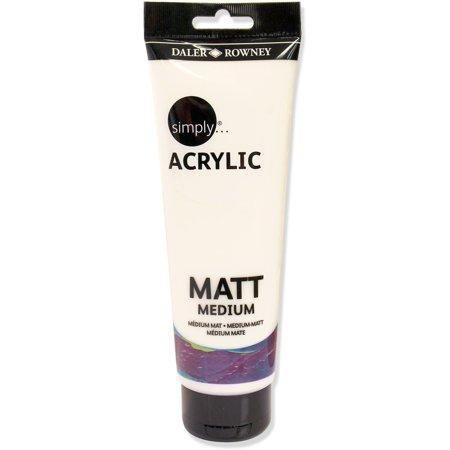 DALER ROWNEY SIMPLY ACRYLIC MATT MEDIUM 250ML