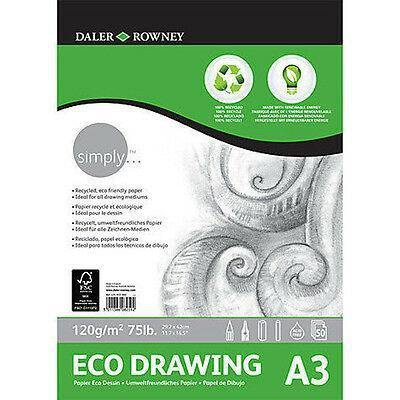 DALER ROWNEY SIMPLY ECO DRAWING PAD A3 120GSM 50 SHEET