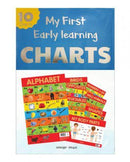 EARLY LEARNING EDUCATIONAL CHARTS FOR KIDS PACK OF TEN CHARTS