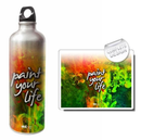 Hot Muggs  Paint Your Life 750ml Water Bottle