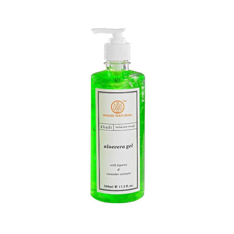 KHADI NATURAL AYURVEDIC ALOEVERA GEL WITH DISPENSER (500ml)