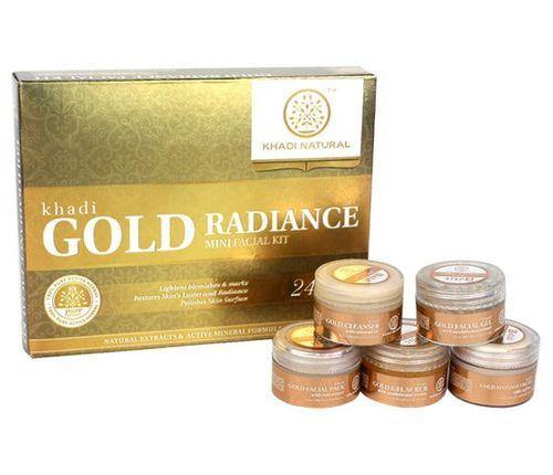 KHADI NATURAL AYURVEDIC GOLD MINI FACIAL KIT