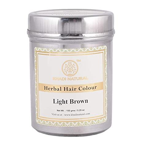 KHADI NATURAL AYURVEDIC LIGHT BROWN HENNA COLOUR