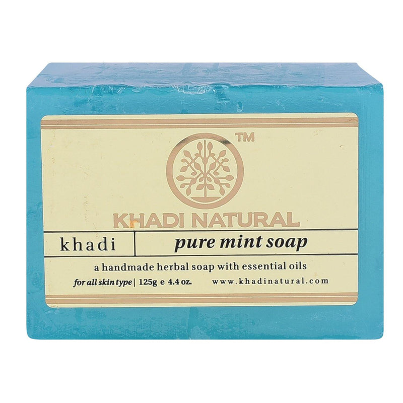 KHADI NATURAL AYURVEDIC PURE MINT SOAP