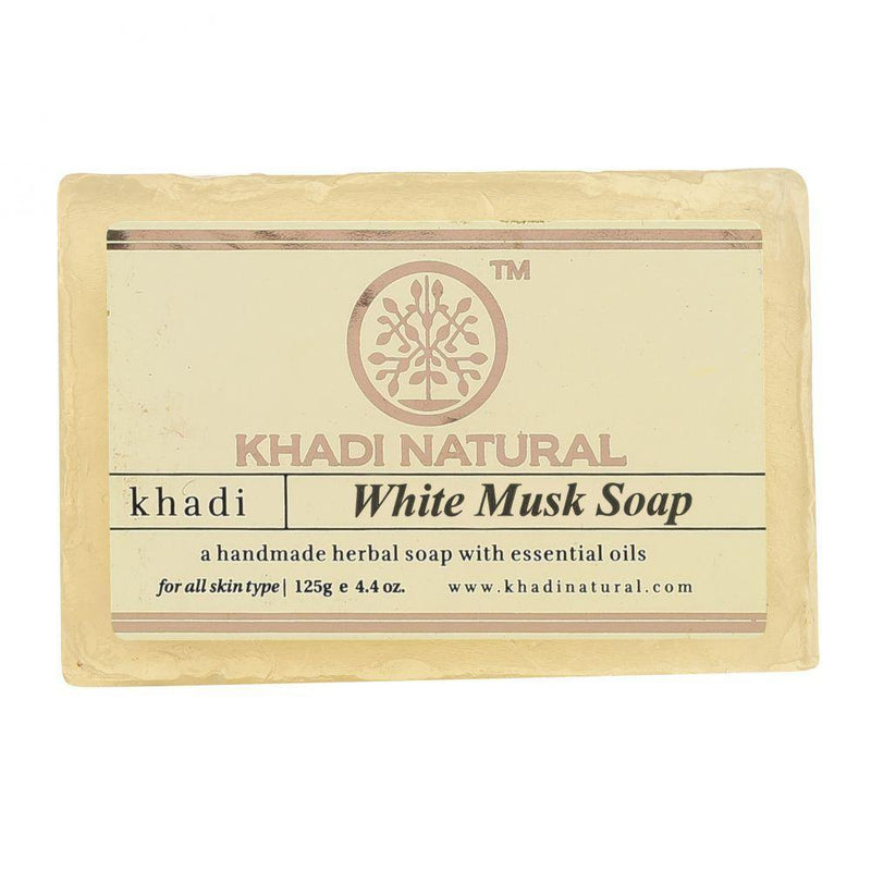 KHADI NATURAL AYURVEDIC WHITE MUSK SOAP