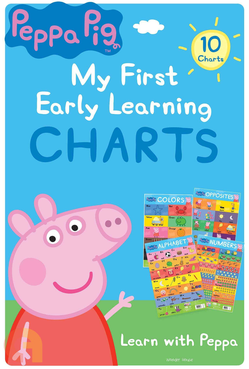 PEPPA PIG MY FIRST EARLY LEARNING CHARTS  LEARNING WITH PEPPA 10 CHARTS