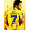 POS-338-A3 DHONI 7 CSK OFFICIAL POSTER