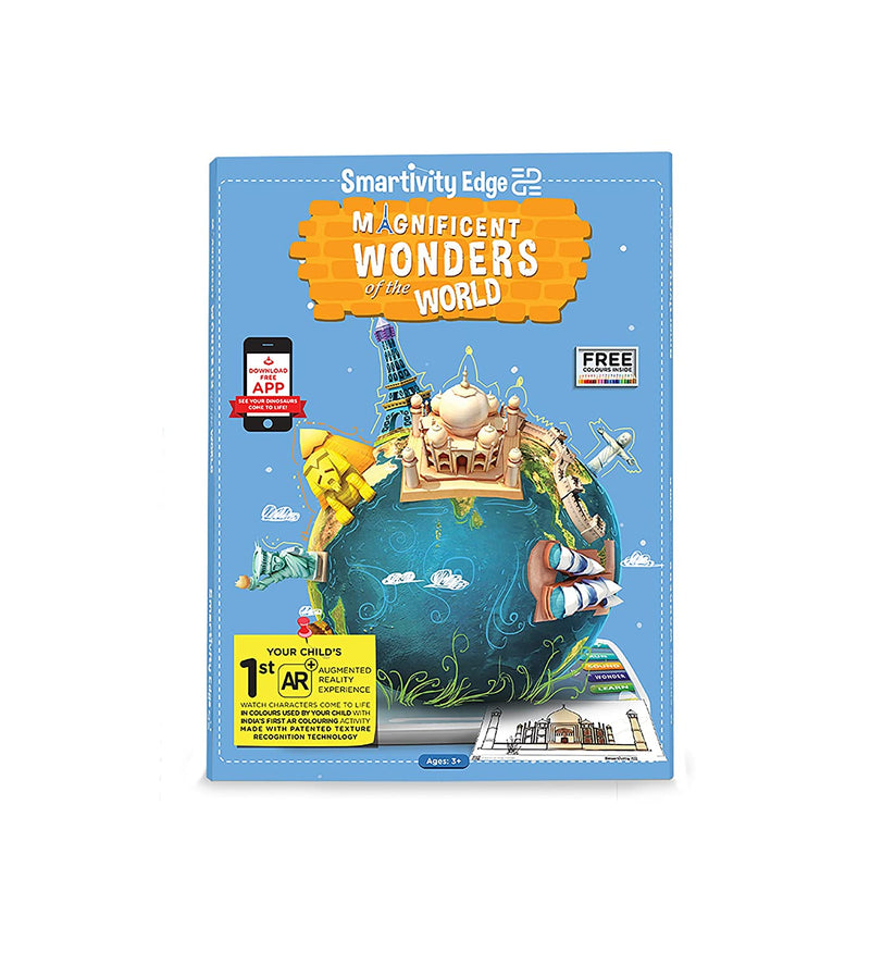 SMRT1041 EDGE MAGNIFICIENT WONDERS OF THE WORLD COLOURING SHEETS