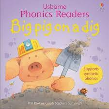 USBORNE PHONICS READERS BIG PIG ON A DIG