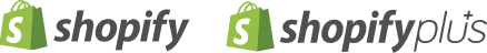 Shopify and Shopify Plus logos