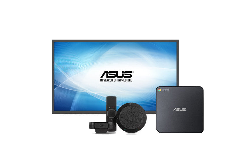 "Asus Chromebox for meetings Bundle inc. 1 x Asus SD554 55"" Screen & Asus Chromebit"