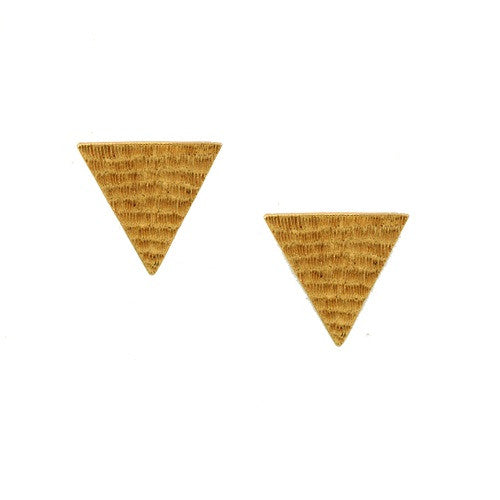 Earrings Triangular Studs E-146