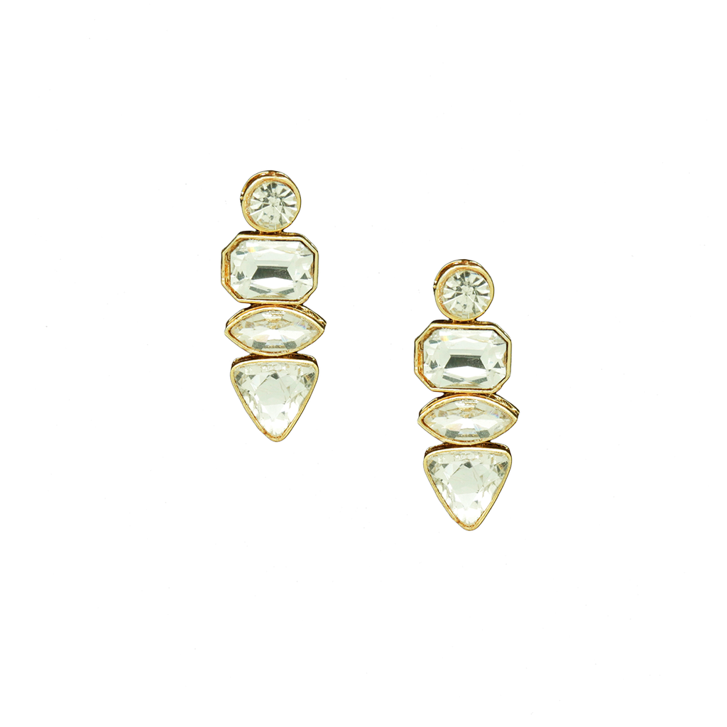 Kundan Stones Earrings E-129