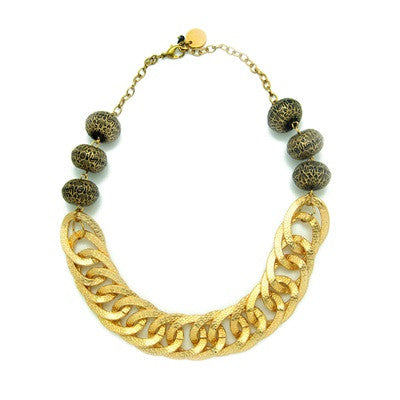 Gold Chain Neckpiece N-886