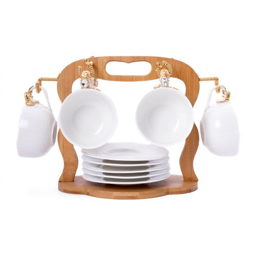 Tea cups  With Wooden Stand -TC- 10