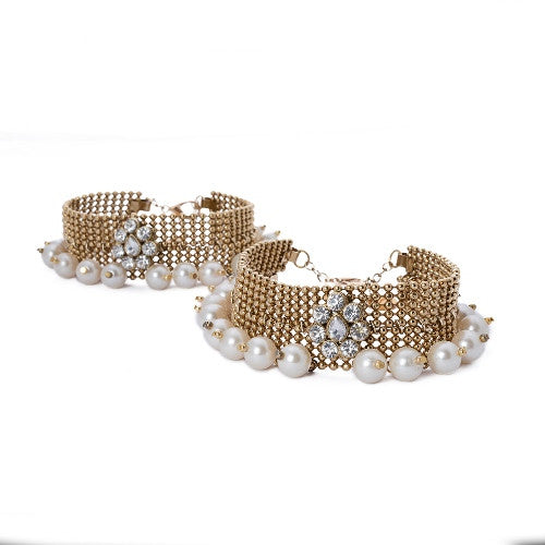 Ethnic pair of anklets A-27