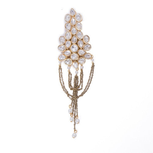 Abstract kundan brooch BCH-88