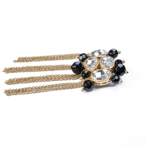 Gold n Black brooch BCH-86