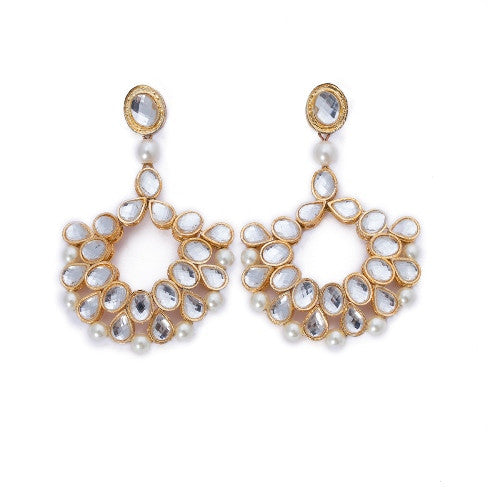 Kundan earrings E-105