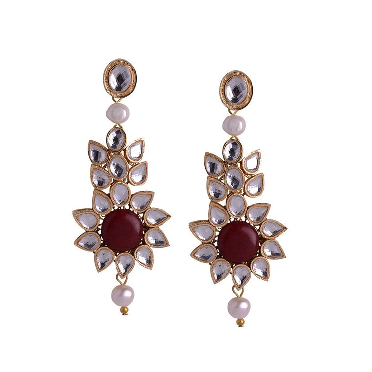Kundan Earrings E-31