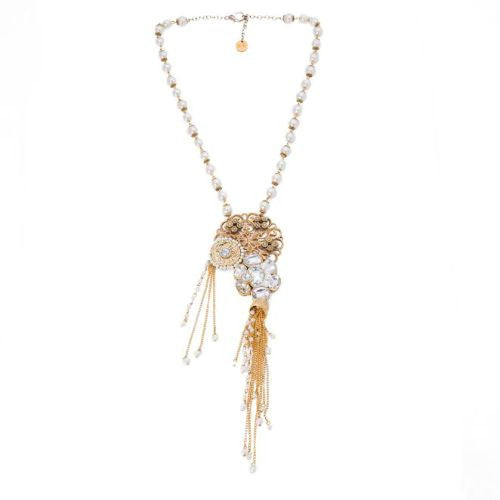 Abstract pendant necklace N-1002