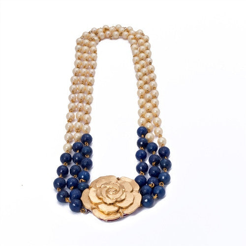 Blue n Gold rose N-248