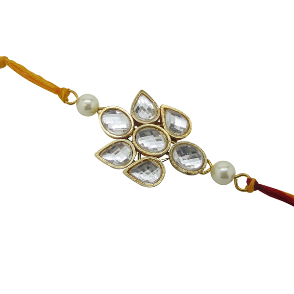 Abstract kundan rakhi RK-07