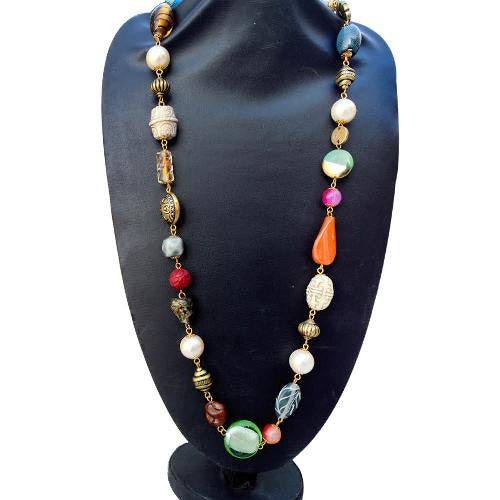 Multi Coloured necklace N-229-1
