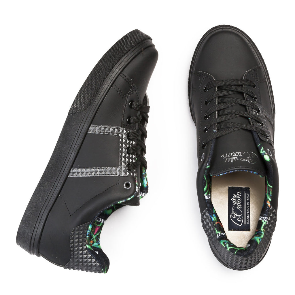 SNEAKER 2.0 LOW STUDS MAN BLACK