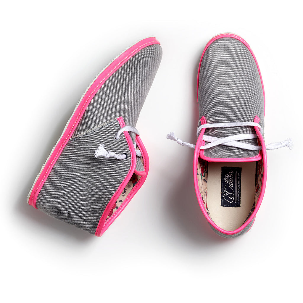 DB 2.0 CANVAS NEON WOMAN GREY/PINK