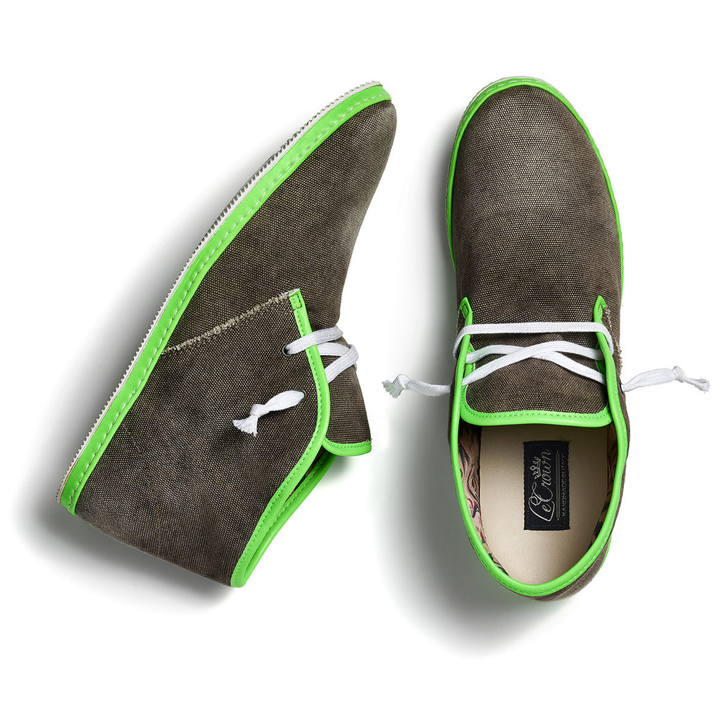 DB 2.0 CANVAS NEON MAN GREY/GREEN