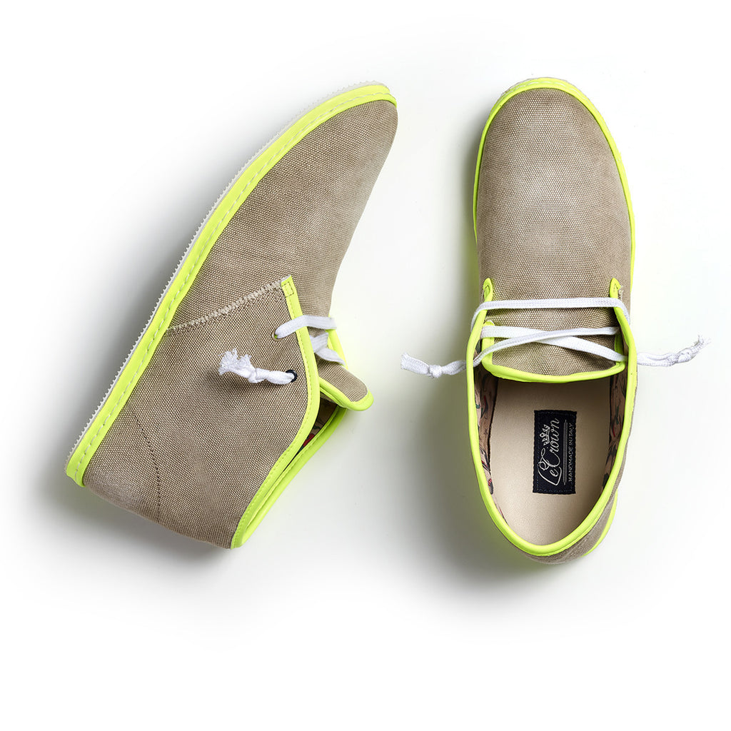 DB 2.0 CANVAS NEON WOMAN TAUPE/YELLOW