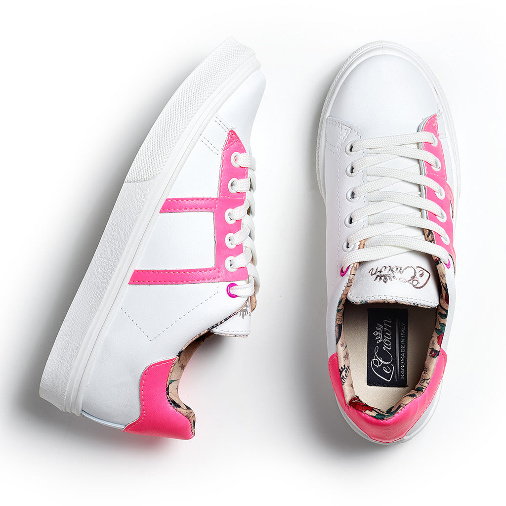 SNEAKER LOW LEATHER NEON WOMAN PINK