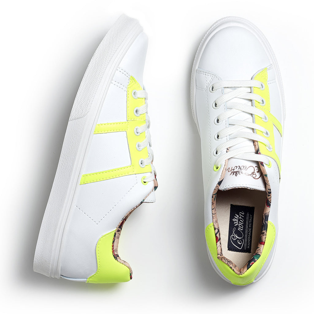 SNEAKER LOW LEATHER NEON MAN YELLOW