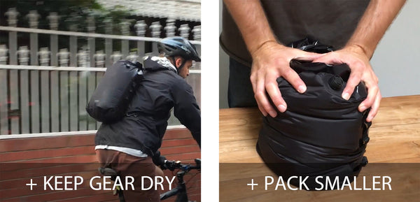 Keep gear dry and pack smaller