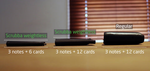 Scrubba weightless wallet - super thin