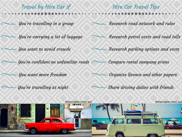 Hire Care Travel Tips
