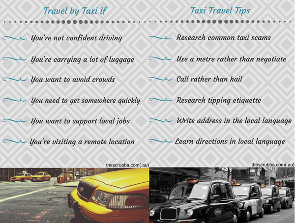 Travel by Taxi Tips