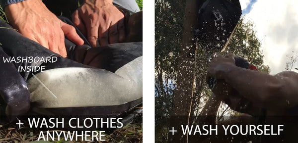 Wash clothes anywhere and wash yourself