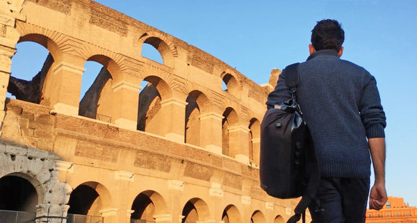 Scrubba stealth pack travel backpack in Rome