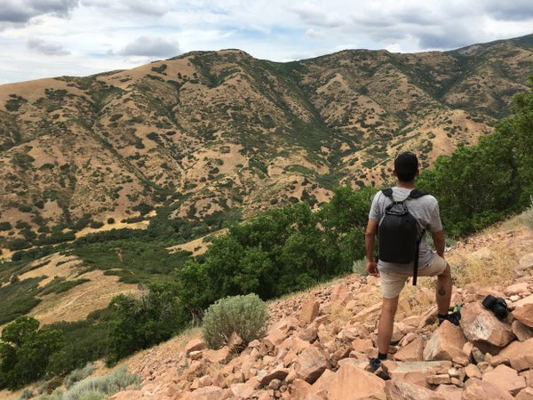 The Scrubba stealth pack for hiking in Salt Lake City