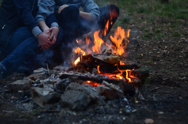 Campfire to dry clothes