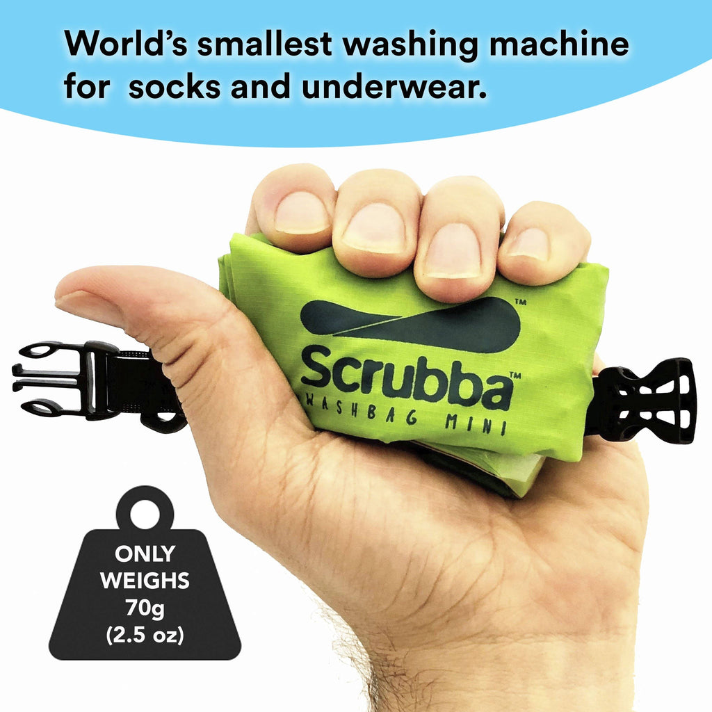 Scrubba wash bag MINI - Bonus straw and bottle