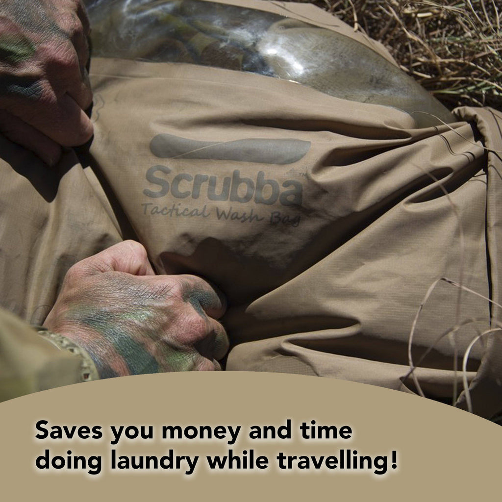 Scrubba Tactical Wash Bag - Bonus straw and bottle