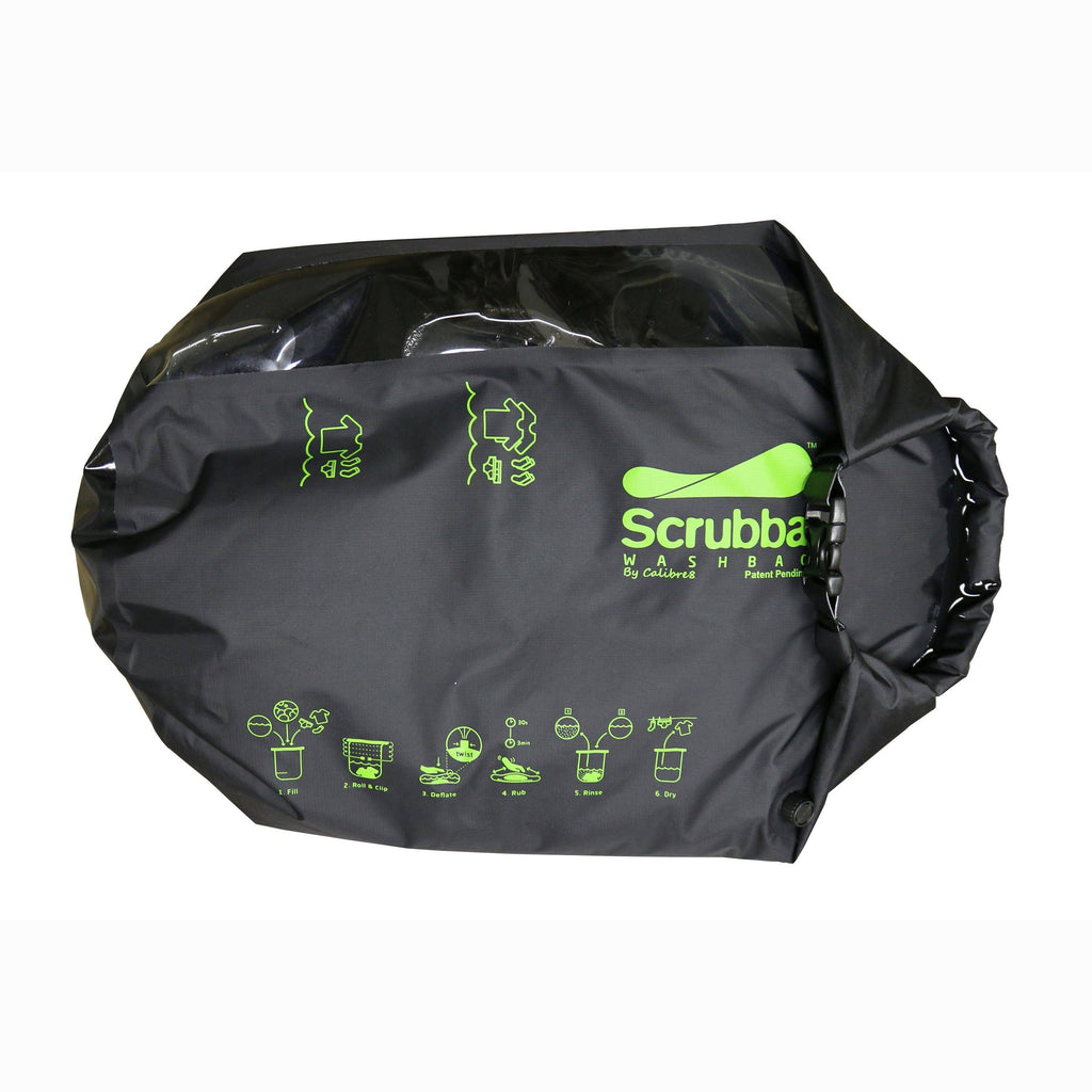 Scrubba Wash Bag - Black - Unpackaged for personal use