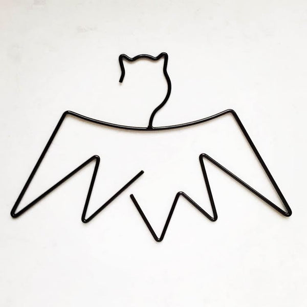 Little Pop Studios - Bat Kids Coat Hanger - Black - Leonardo & Co. - 3