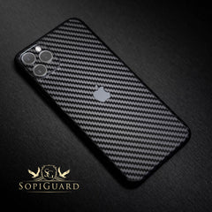 sopiguard iphone 11 pro max carbon fiber sticker skin