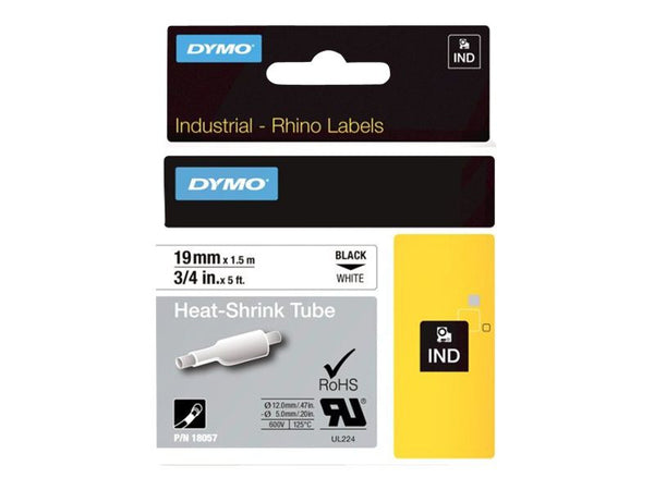 Dymo RHINO Heat Shrink Tube 19mm white