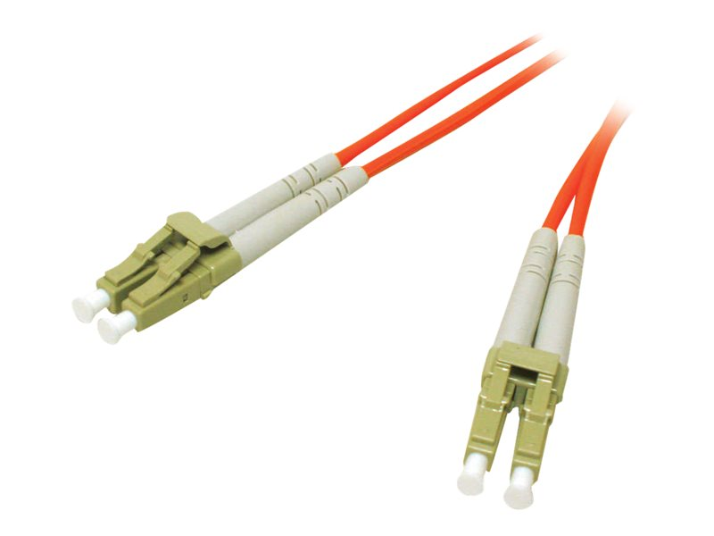C2G 3m LC/LC LSZH Duplex 62.5/125 Multimode Fibre Patch Cable Orange